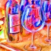 North Carolina Wine Art Print by Marilyn Sholin