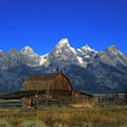 North Moulton Barn Grand Tetons Art Print