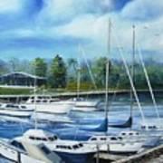 North Myrtle Beach Marina Art Print
