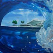North Shore Window Barrel  Right Art Print