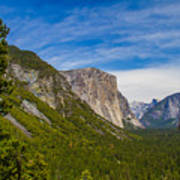 North Side Of South Valley Of Half Dome Art Print
