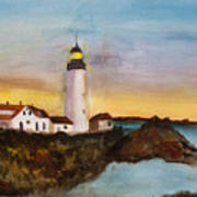 North Truro Light House Cape Cod Art Print