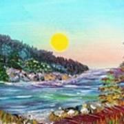 North With Yellow Sun Art Print