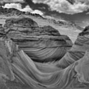Northern Arizona Desert Swirls Art Print
