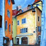 Northern Italian Town Art Print