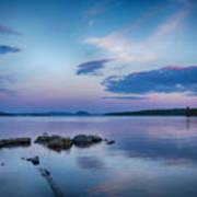 Northern Maine Sunset Over Lake Art Print