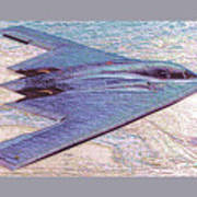 Northrop Grumman B-2 Spirit Stealth Bomber Enhanced With Double Border II Art Print