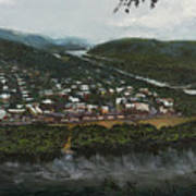 Northumberland On The Susquehanna River Art Print