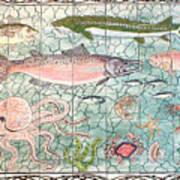 Northwest Fish Mural Print by Dy Witt