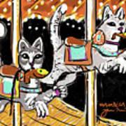 Norumbega Cats Art Print