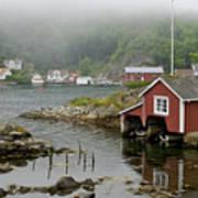 Norway, Fishing Village Art Print