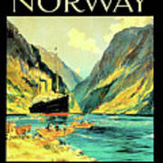 Norway Orient Cruises, Vintage Travel Poster Art Print