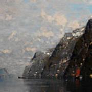 Norwegian Fjord Landscape Art Print