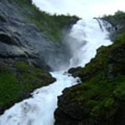Norwegian Waterfall Art Print