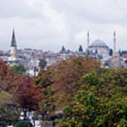 Nostalgia Of The Autumn In Istanbul Art Print