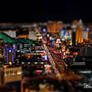 Not Everything Stays In Vegas - Tiltshift Art Print