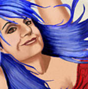 Not Your Typical Little Blue Haired Old Lady Art Print
