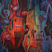 Noteworthy - A Viola Duo Print by Susanne Clark