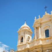 Noto, Sicily, Italy - San Nicolo Cathedral, Unesco Heritage Site Art Print