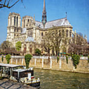 Notre Dame And The Seine Art Print