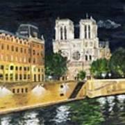 Notre Dame Art Print by Bruce Schmalfuss