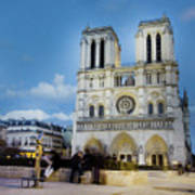 Notre Dame Cathedral Paris 3 Art Print