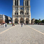Notre Dame De Paris Cathedral Art Print