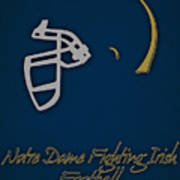 Notre Dame Fighting Irish Helmet Art Print