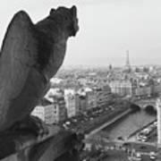 Notre Dame Gargoyle Art Print