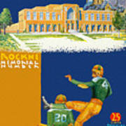 Notre Dame Versus Minnesota 1938 Program Art Print