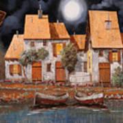 Notte Di Luna Piena Art Print