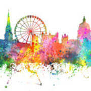 Nottingham  England Skyline Art Print