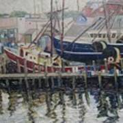 Nova Scotia Boats At Rest Art Print