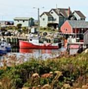 Nova Scotia Fishing Community Art Print