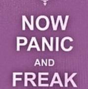 Now Panic 7 Art Print