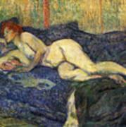 Nu Couche Naked Lying  Art Print