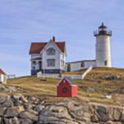 Nubble Lighthouse York Maine Art Print