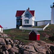 Nubble Point Lighthouse Art Print