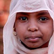 Nubian Girl In Color Art Print