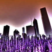 Nuclear Chicago Skyline Art Print