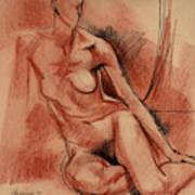 Nude 007 Art Print
