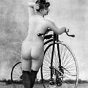 Nude And Bicycle, C1885 Art Print