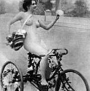 Nude And Bicycle, C1900 Art Print