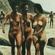 Nude Beach Art Print