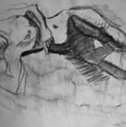 Nude-bl Art Print