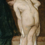 Nude Drying Herself After A Bath Art Print