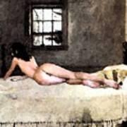 Nude In Bed Art Print