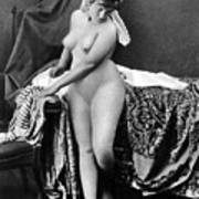 Nude In Bonnet, C1885 Art Print