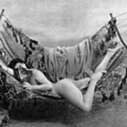 Nude In Hammock, C1885 Art Print