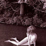 Nude In Jack Creek Art Print